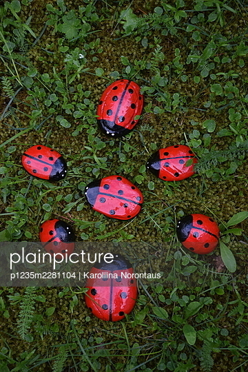 Painted stones, Ladybugs - p1235m2281104 by Karoliina Norontaus