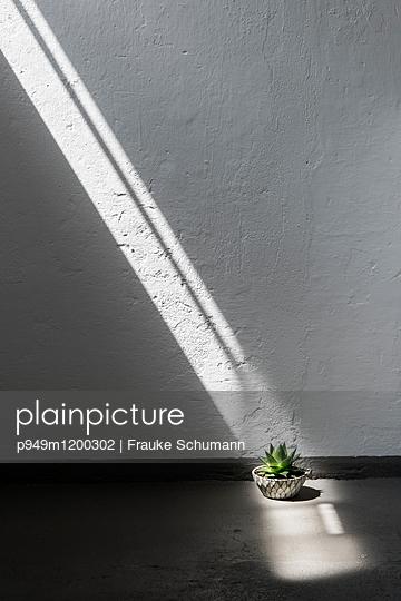 Lichtstrahl Innenraum - p949m1200302 von Frauke Schumann