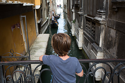 Kid in Venice - p1308m2126465 by felice douglas