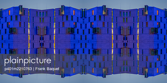 Abstract Architecture Kaleidoscope - p401m2210763 by Frank Baquet