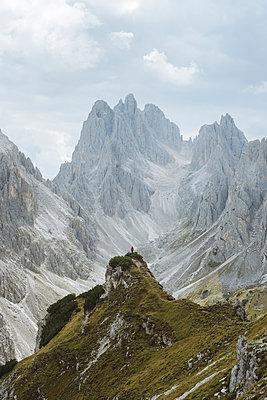 Italy, South Tirol, Belluno, Sexten Dolomites, Cadini di Misurina, Barren mountains on cloudy day - p1427m2213579 by Oleksii Karamanov