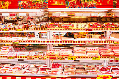 Meat section in Japanese supermarket - p579m2014827 by Yabo