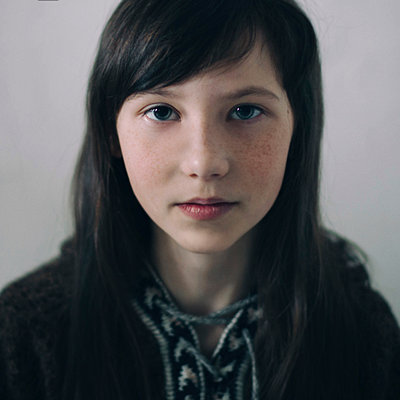 Portrait of Caucasian girl - p555m1444274 by Vladimir Serov