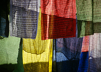 Prayer flags - p9248631f by Image Source