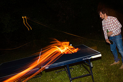 Ping Pong on Fire - p941m907782 by lina gruen