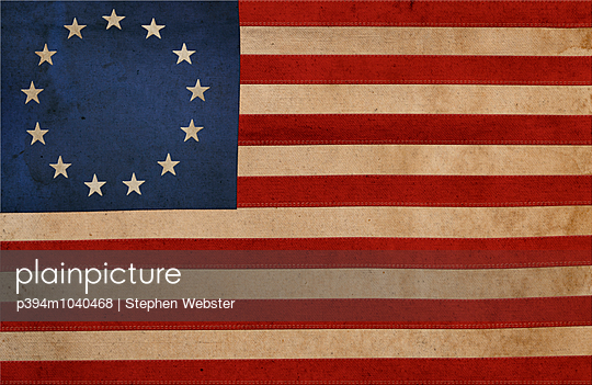 United State Colonial Flag - p394m1040468 by Stephen Webster