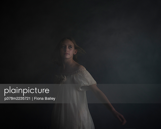 Portrait of young girl - p378m2235721 by Fiona Bailey