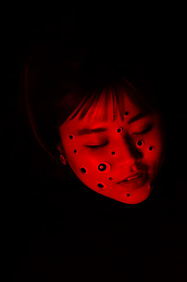 Face covered with dots - p1229m2073270 by noa-mar