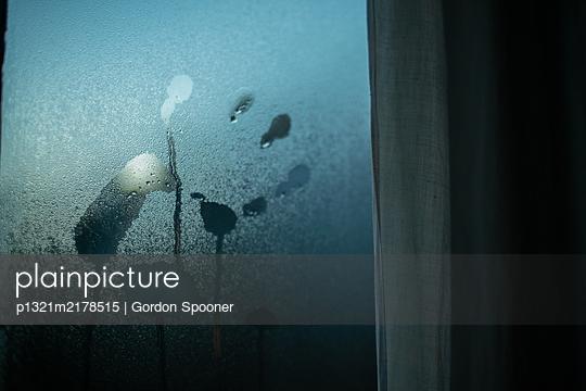 Handprint on window - p1321m2178515 by Gordon Spooner