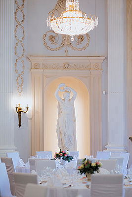 Banqueting hall for the wedding celebration - p680m2176425 by Stella Mai