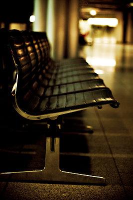 Bench in waiting hall - p300m878141 by Daniel Weisser