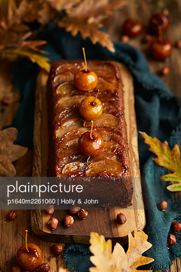 Nut cake with cherries - p1640m2261060 by Holly & John