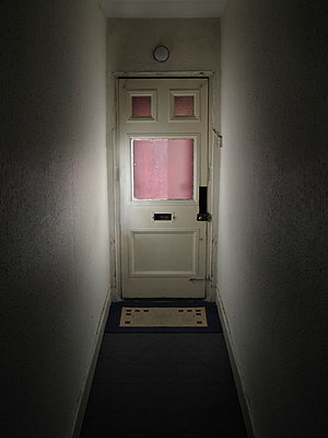 Looking at a front door from inside - p1072m829313 by Neville Mountford-Hoare