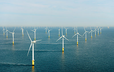 Offshore wind farm, North Sea - p429m1179646 by Mischa Keijser