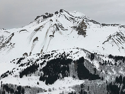 Snow in the mountains - p1048m2016663 by Mark Wagner