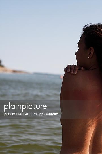 Kaltes Wasser und Sonnenschein - p863m1146646 von Philipp Schmitz