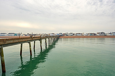 Deal seafront as seen from Deal Pier, Deal, Kent, England, United Kingdom, Europe - p871m1448379 by Tim Winter