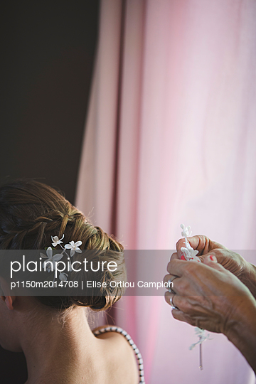 Hochzeitsfrisur - p1150m2014708 von Elise Ortiou Campion