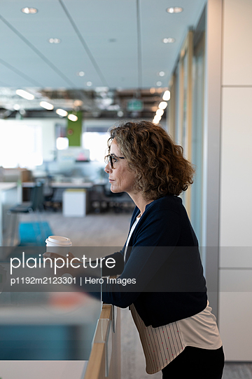 Portrait of mature businesswoman in office - p1192m2123301 by Hero Images