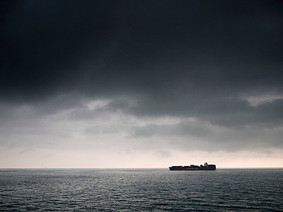 Container ship at sea - p388m701975 by Andre
