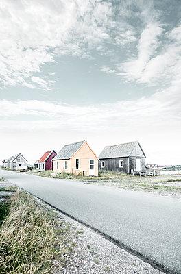 Several fishing cabins, Hvide Sande - p1162m2281065 by Ralf Wilken