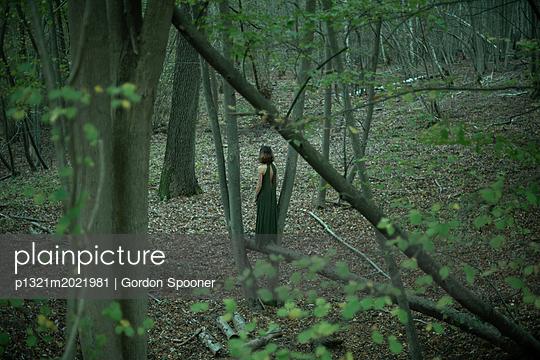 Frau allein im Wald - p1321m2021981 von Gordon Spooner