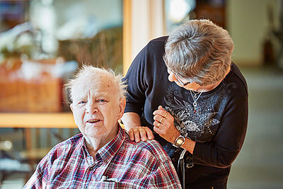 Senior couple together - p312m1054505f by Jan Tove
