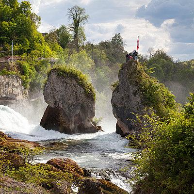Switzerland, Schaffhausen, Rhine falls - p300m950992f by Wilfried Wirth