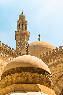Minaret of Muhammad Ibn Qalawun Mosque in Cairo - p1332m1502892 by Tamboly