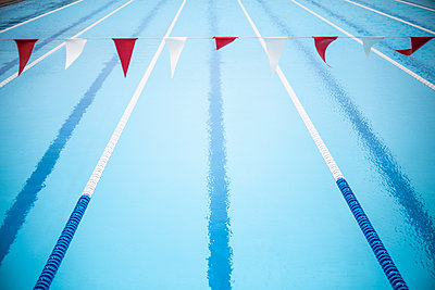 Swimming lanes - p1367m2031278 by Teresa Walton