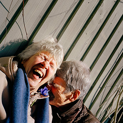Happy senior couple together - p312m2237264 by Pernille Tofte