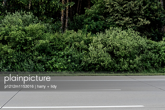 Leere Autobahn - p1212m1153016 von harry + lidy