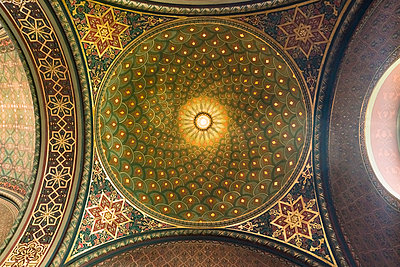 Decoration details of the Spanish synagogue in Prague - p1332m2205611 by Tamboly