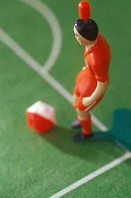 Tischfußballspieler von oben - p2551028 von T. Hoenig