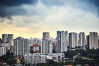 Block of flats in Singapore - p227m1589143 by Uwe Nölke