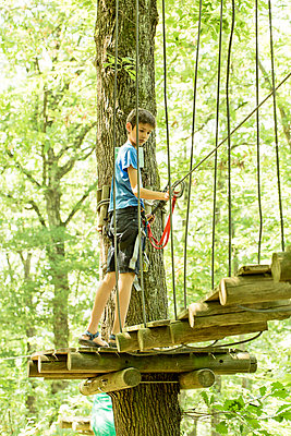 Ropes course - p445m1051406 by Marie Docher