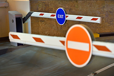 Car park entrance / exit barriers - p1048m1512724 by Mark Wagner