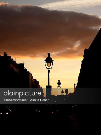 Sunset in Paris - p1654m2289092 by Alexis Bastin