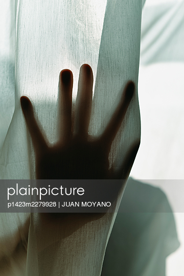 Man through the curtain - p1423m2279928 by JUAN MOYANO