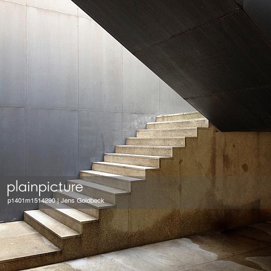 Treppenhaus in Guimarães - p1401m1514290 von Jens Goldbeck