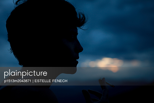 Blow in the sky at sunset - p1513m2043871 by ESTELLE FENECH