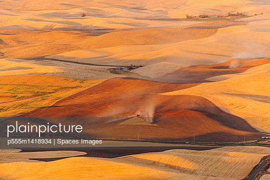 Aerial view of rural farmland, Washington, United States
