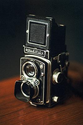 Vintage Rolleiflex camera - p1418m1559100 by Jan Håkan Dahlström