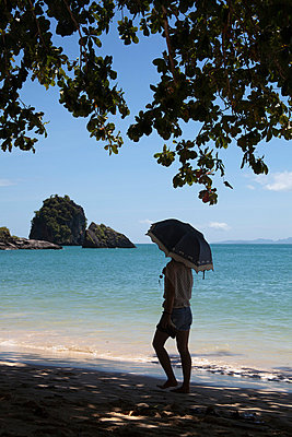 On the beach, Thailand - p993m877380 by Sara Foerster