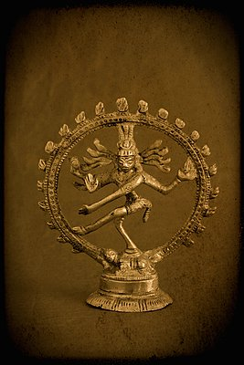 Nataraja, depiction of the Hindu God Shiva as the cosmic dancer. - p1028m987627 by Jean Marmeisse