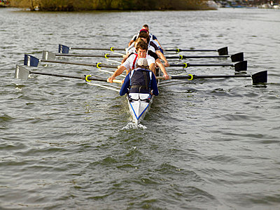 Full eight rowing. - p4291830f by Frank and Helena