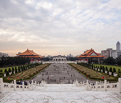 Tourists at Chiang Kai-shek Memorial Hall - p429m897048 by Eric Gregory Powell