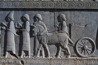 Bas-relief of the representation of all nations of the Persian empire - p798m1025695 by Florian Loebermann