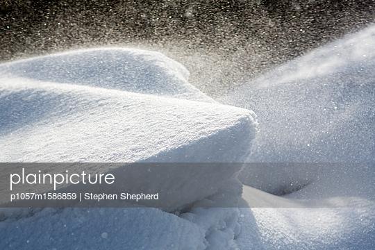 Snow drifts - p1057m1586859 by Stephen Shepherd