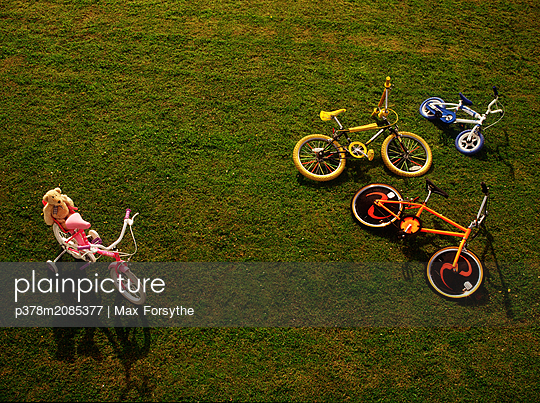 Kids Bikes - p378m2085377 by Max Forsythe